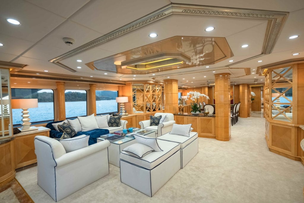 Lady Azul Yacht Interior Saloon