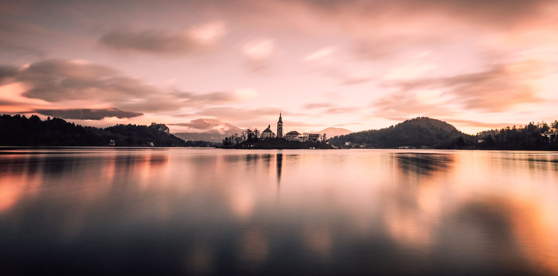 HERO Lake Bled Sunset Slovenia