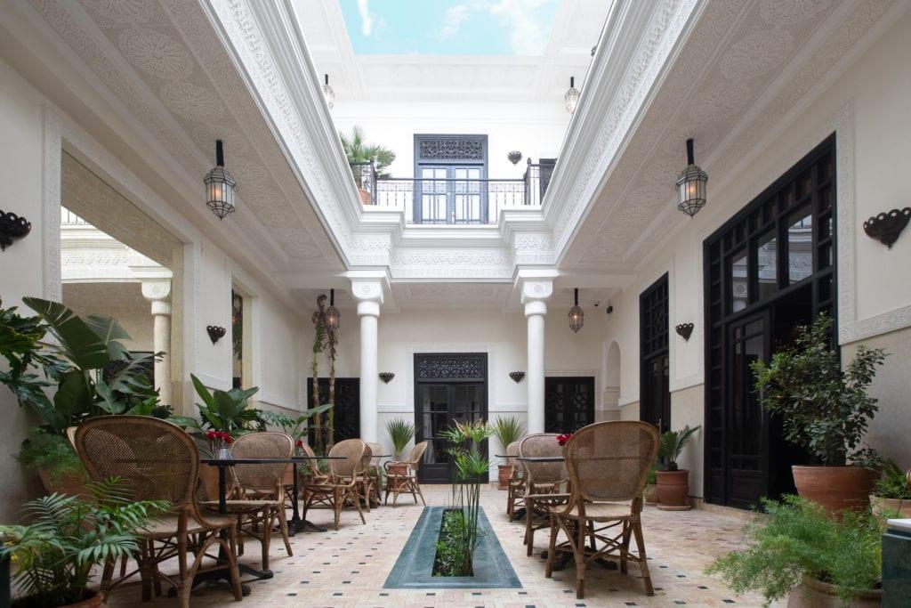 courtyard at la villa des orangers
