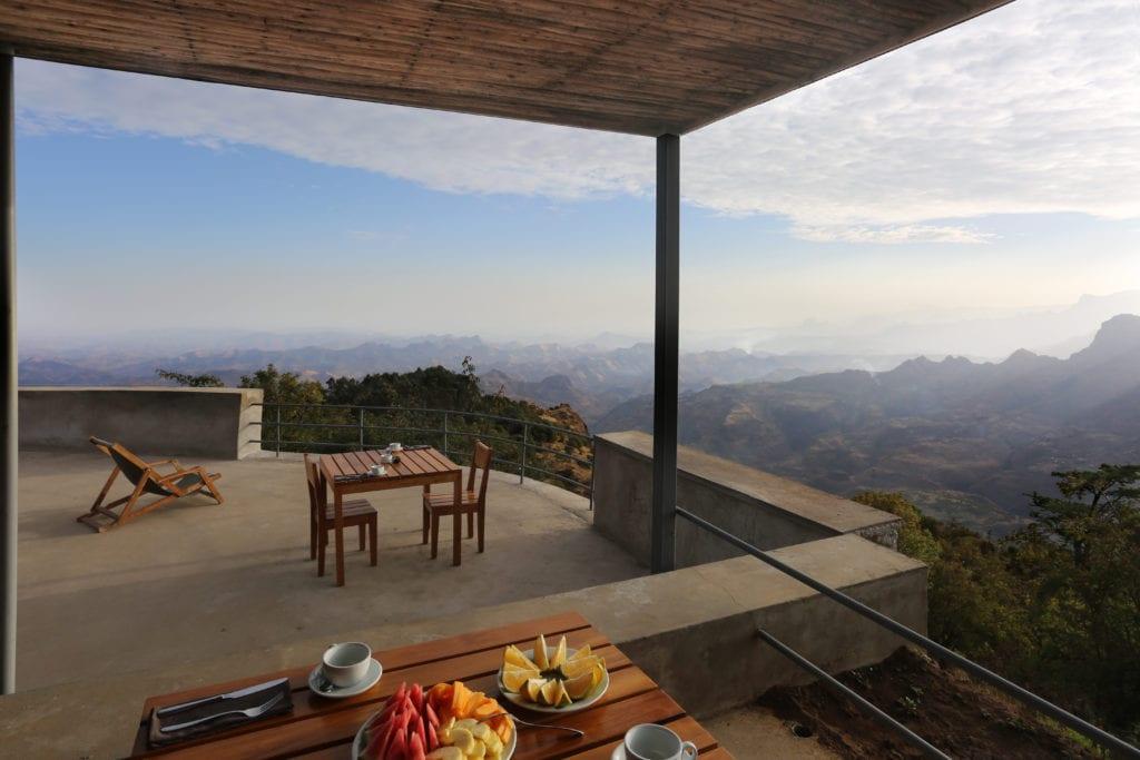 outdoor seating views Limalino