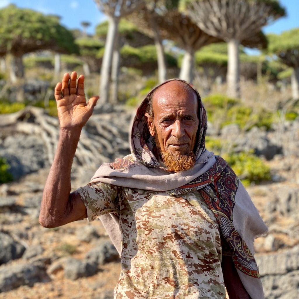 An up close photo of a local from Socotra