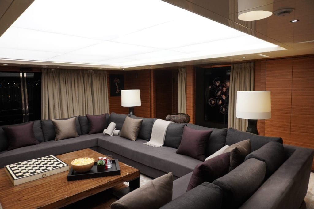 Saloon on board Magna Grecia Yacht
