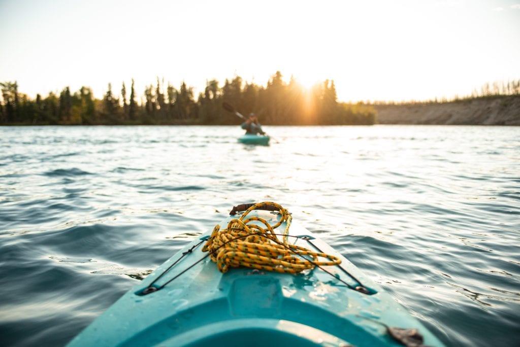 Kayaking Finland Sunset