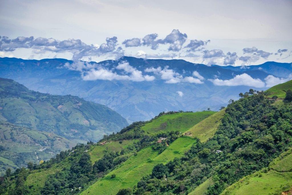 Medellin luscious green landscape, Colombia