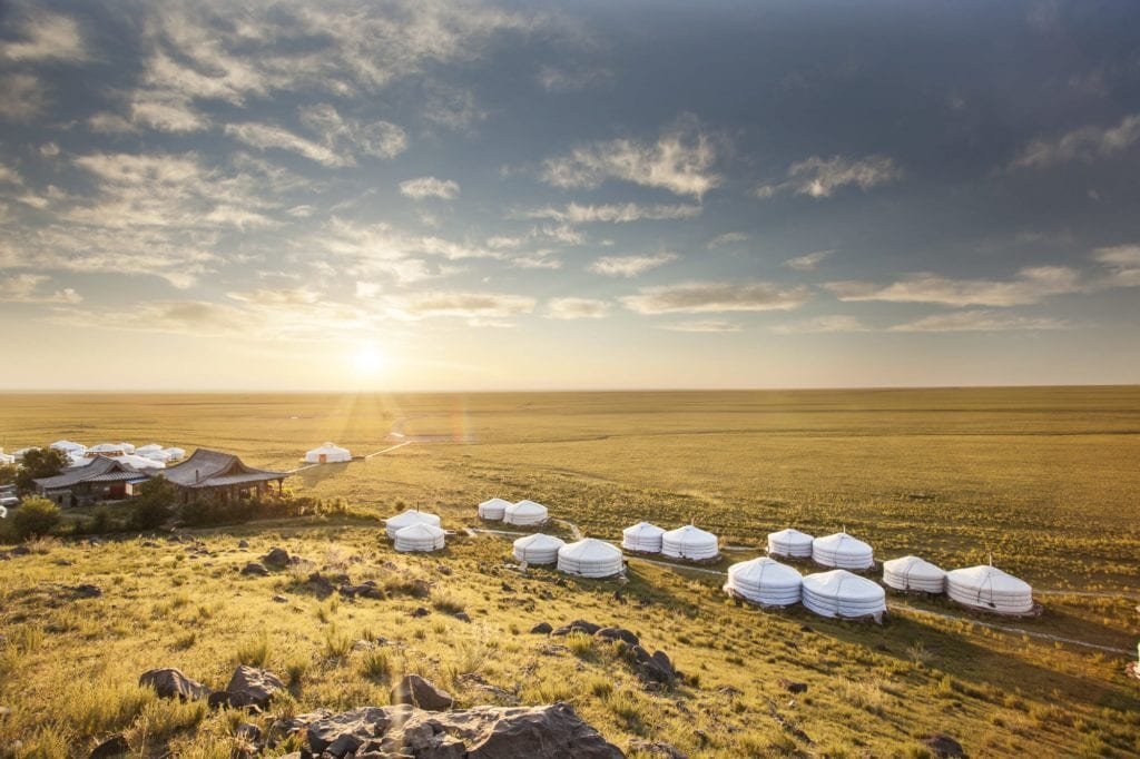 Mongolia Camel Lodge Aerial