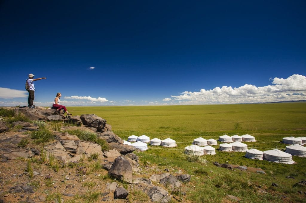 Mongolia Camel Lodge Landscape