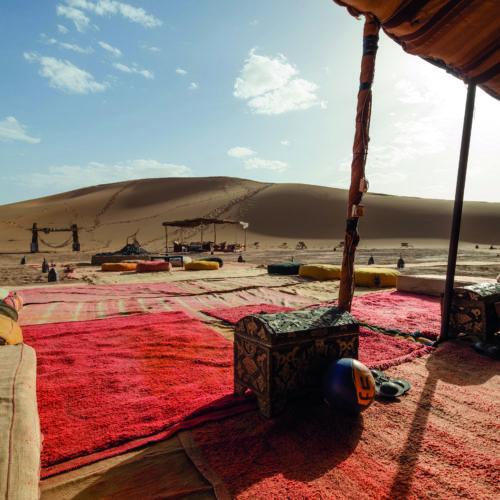 Morocco private camp lounge