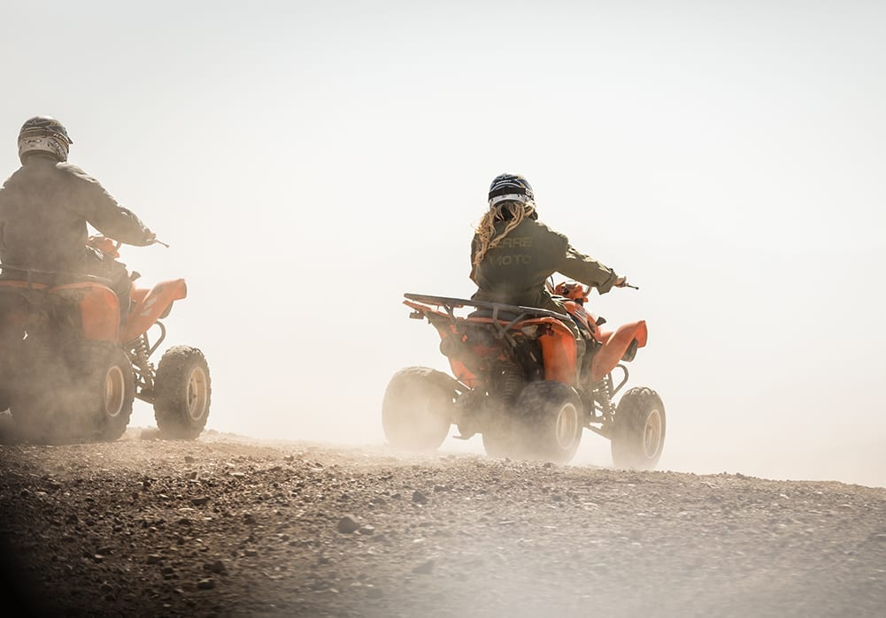 Morocco driving quad bikes