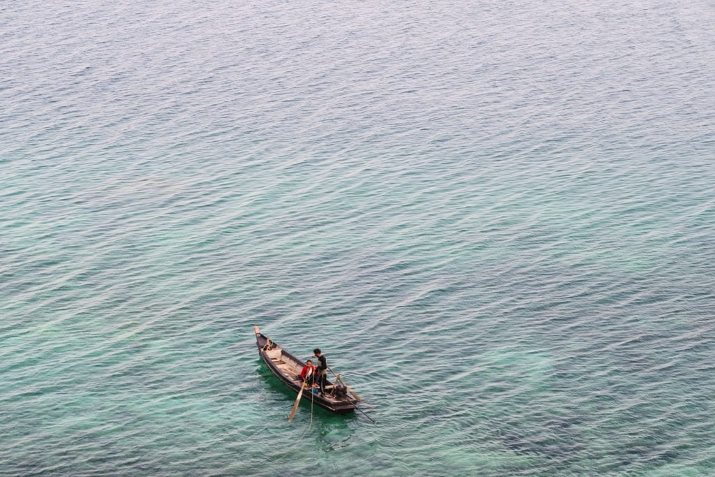 boat on water in myanmar