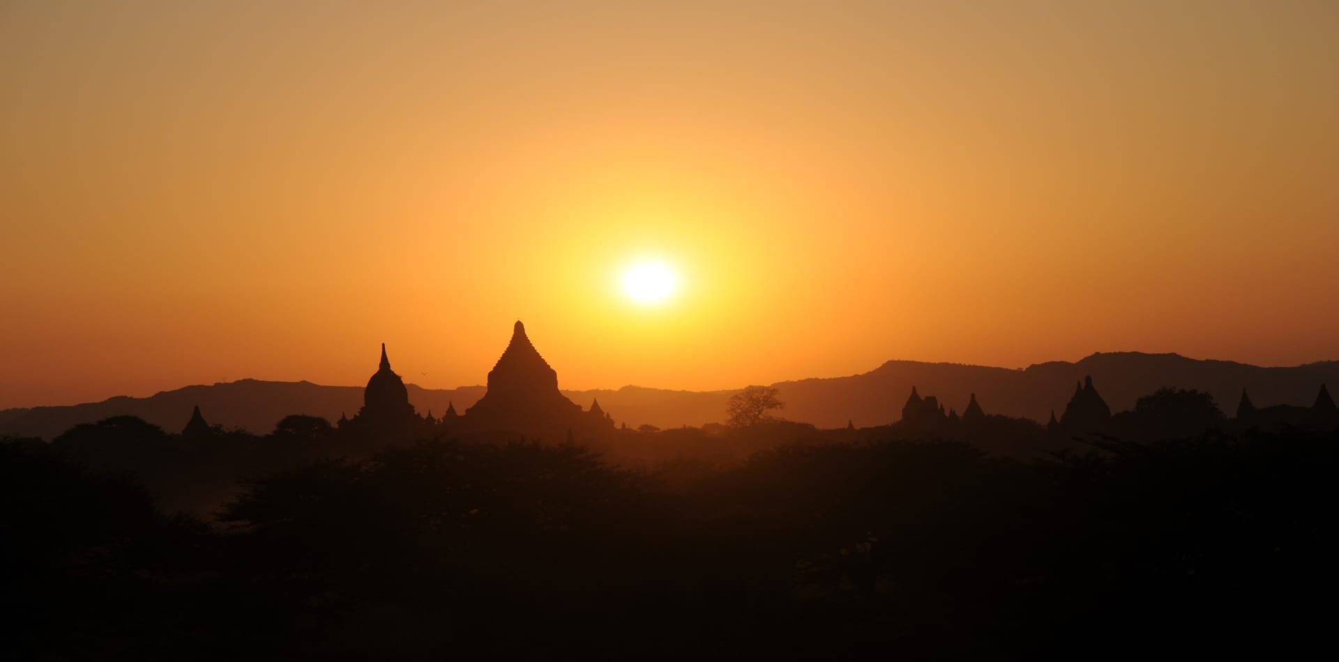 Myanmar Sunset Temples
