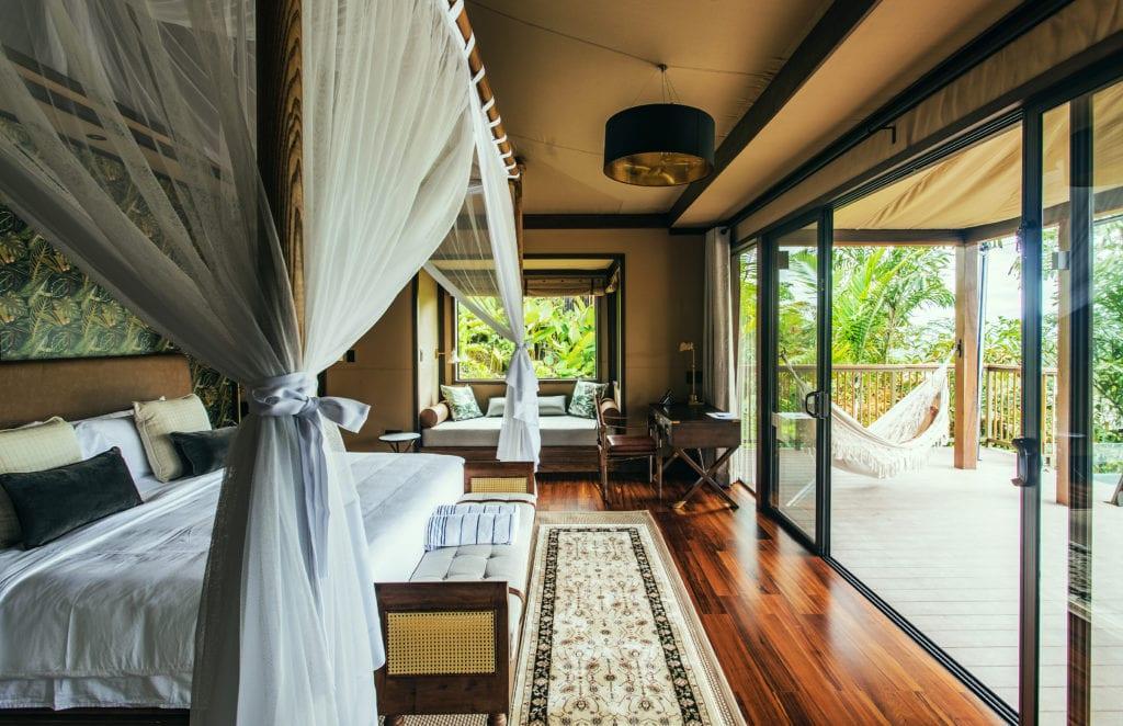 Bedroom and veranda Nayara Tented Camp