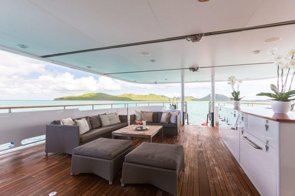 Ocean's Seven Yacht Exterior Deck