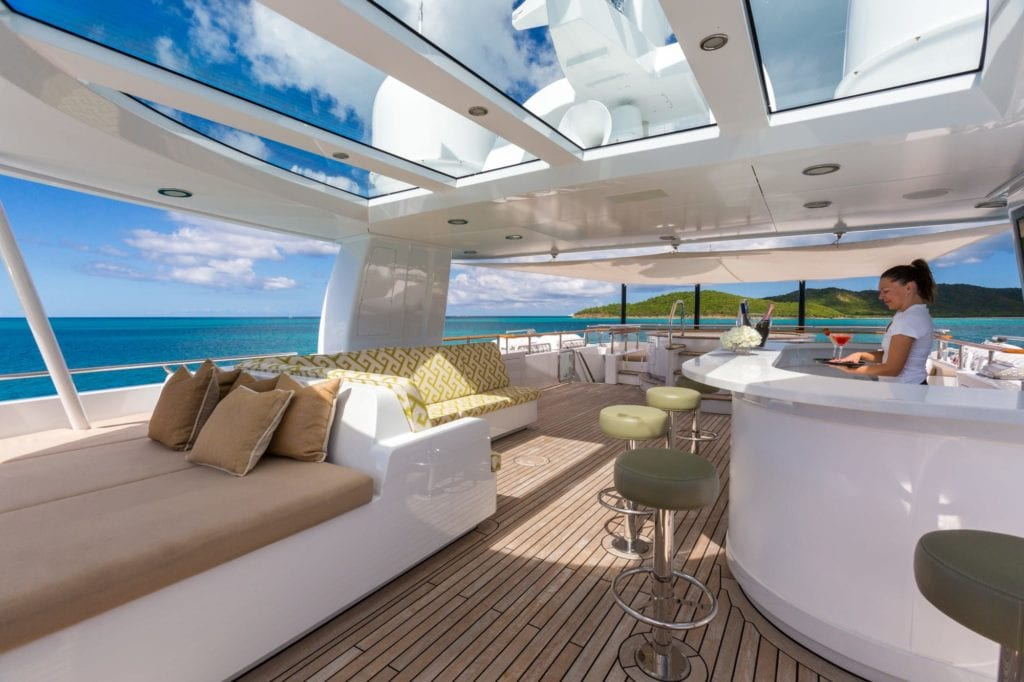 Sun Deck on Ocean's Seven Yacht