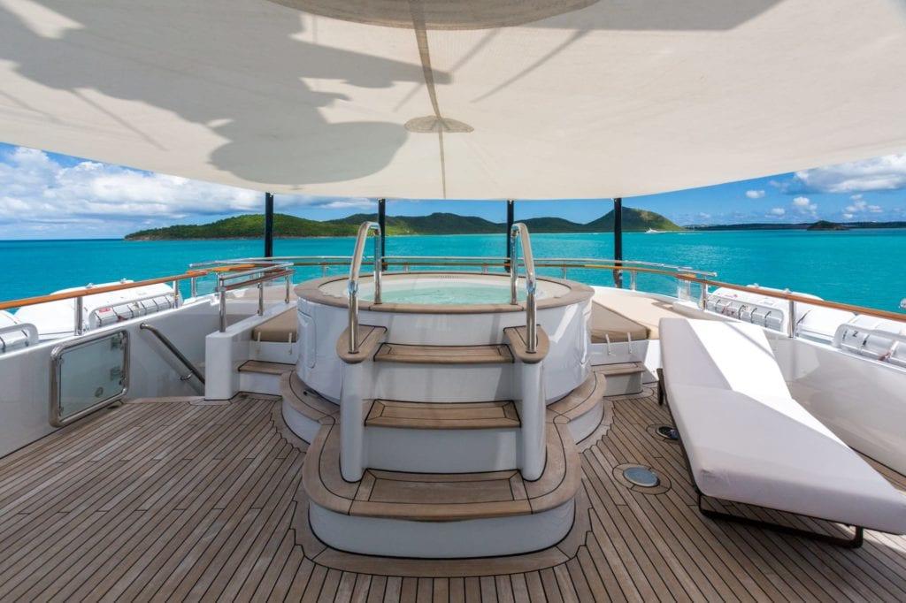 Deck Jacuzzi on Ocean's Seven Yacht