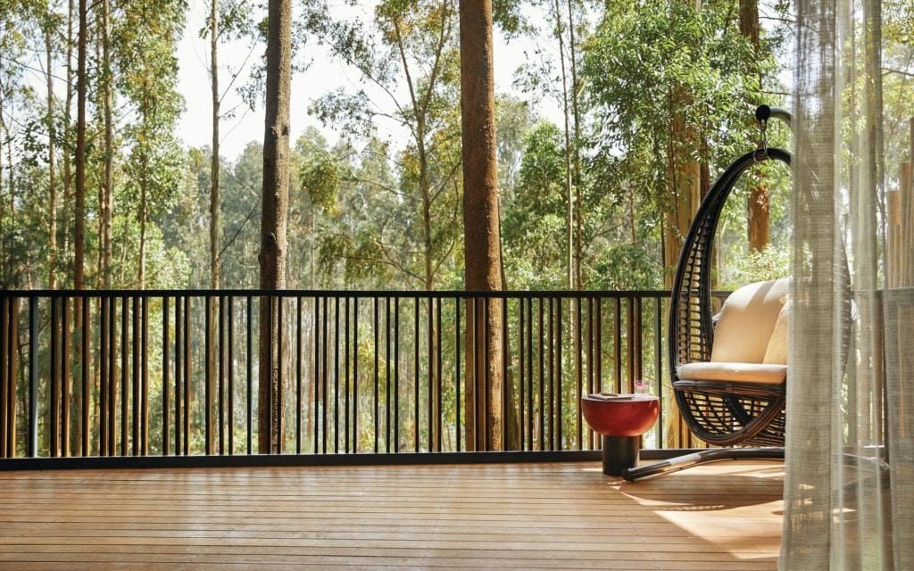 One and Only Gorillas Nest Forest Lodge King Balcony Rwanda
