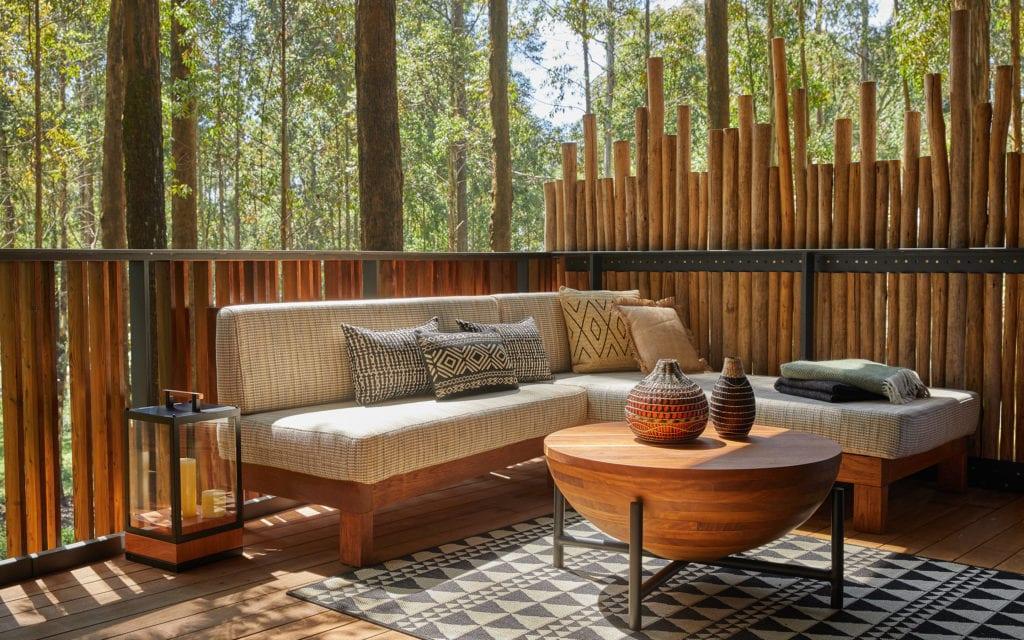 One and Only Gorillas Nest Virunga Suite Outdoor Deck Rwanda Jungle