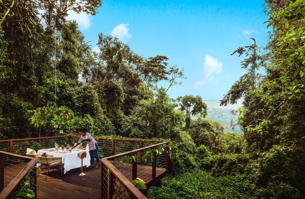 One and Only Nyungwe House Private Dining Deck Jungle View Rwanda