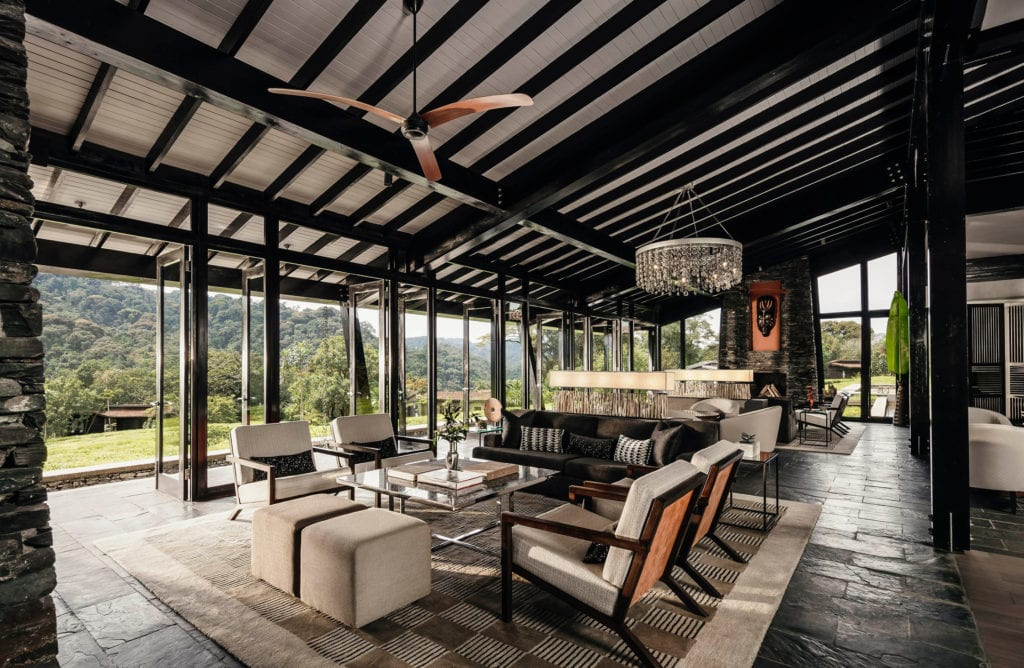 One and Only Nyungwe House Tea Lounge Interior Rwanda