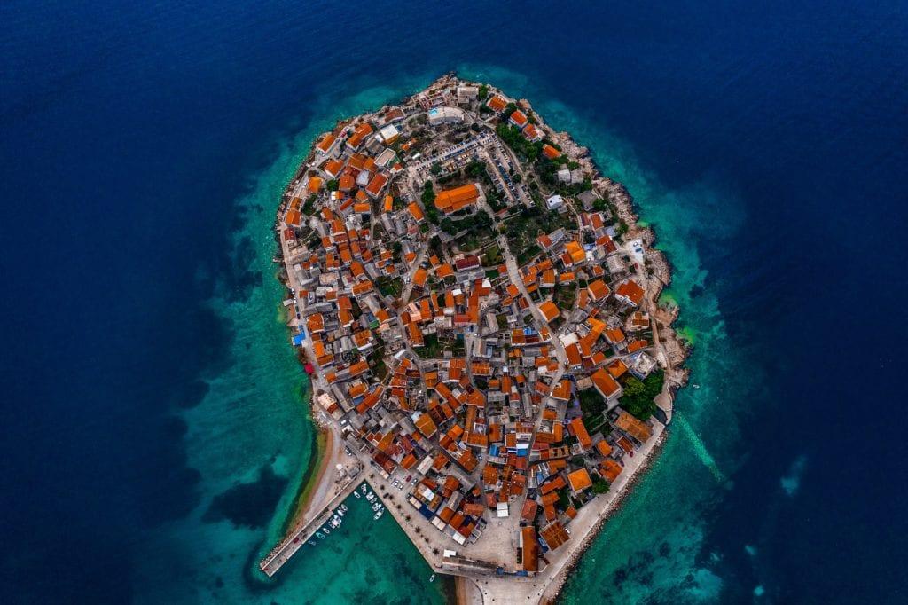 Pelorus Croatia Dalmatian Coast Aerial