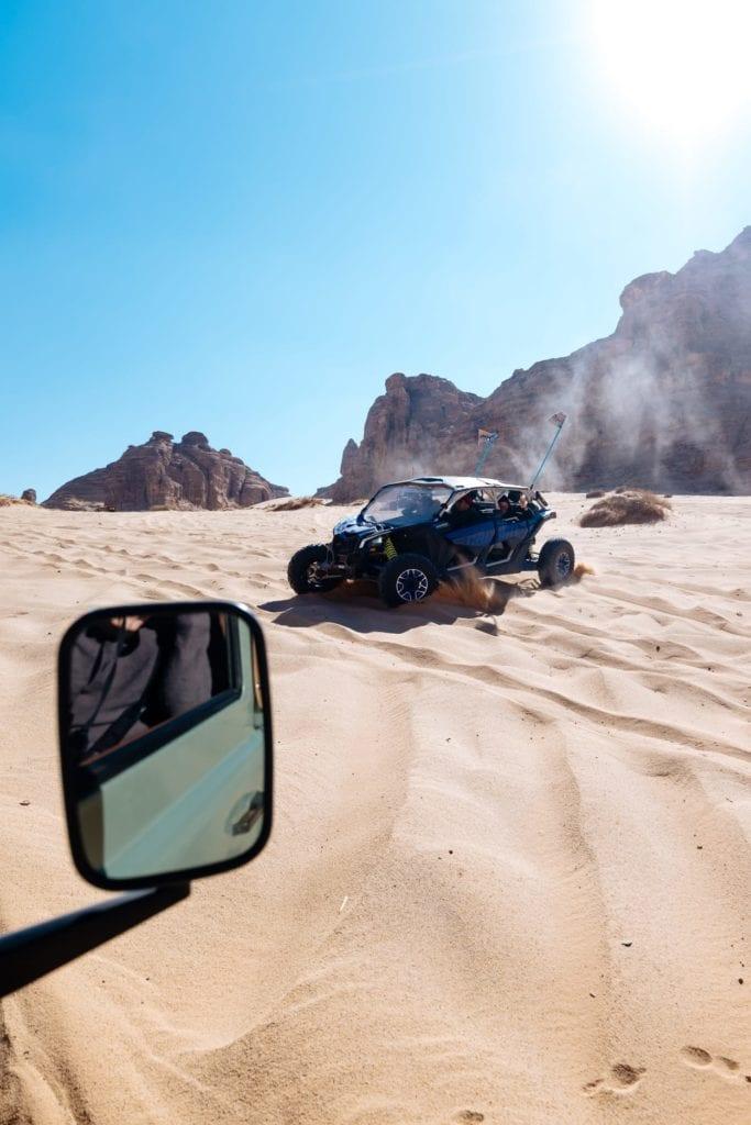 Dune Buggies in Saudi Arabia Desert