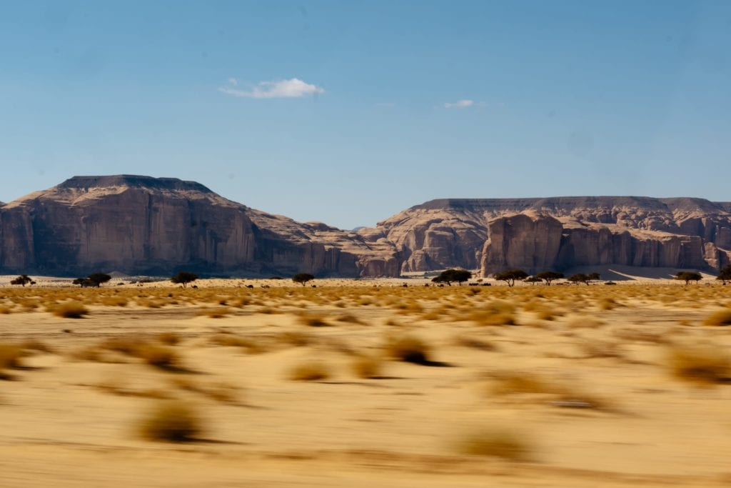 Saudi Arabia Desert and Mountains