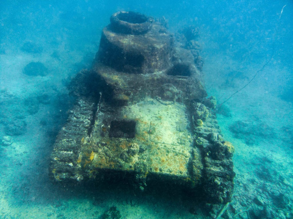 pelorus solomon islands world war ii tank wreck