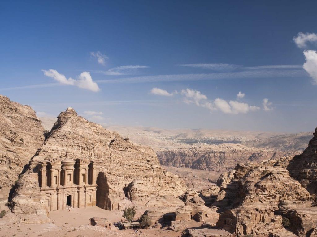 Aerial Monastery Petra Jordan