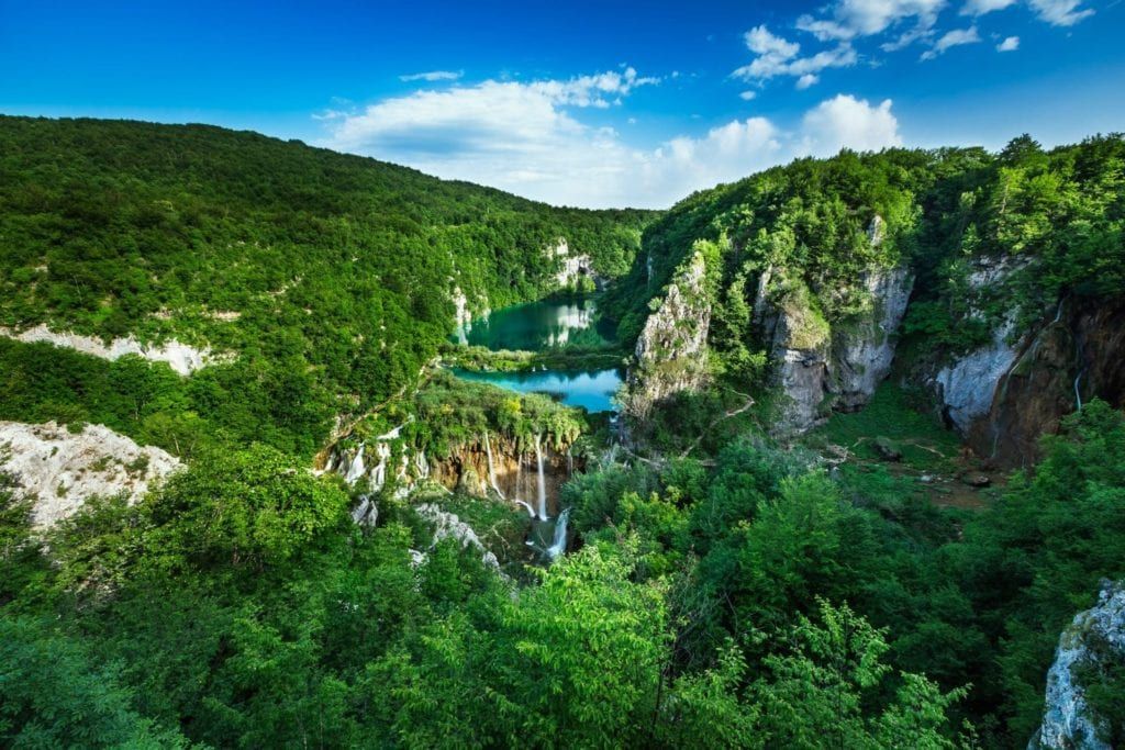 Plitvice Lakes National Park Aerial