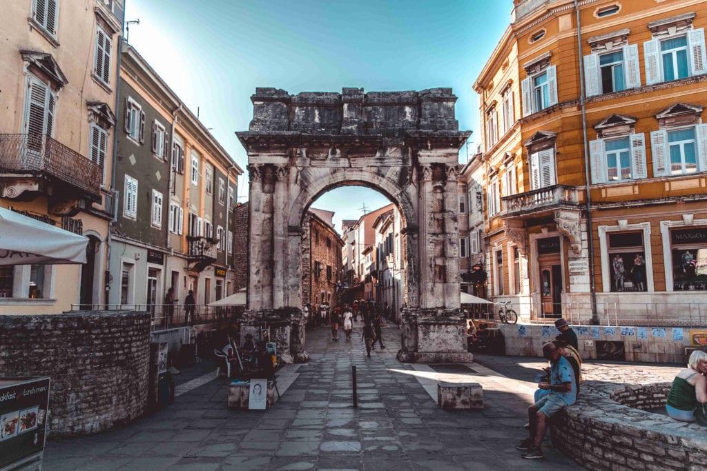 Pula Croatia Ancient Roman Ruins