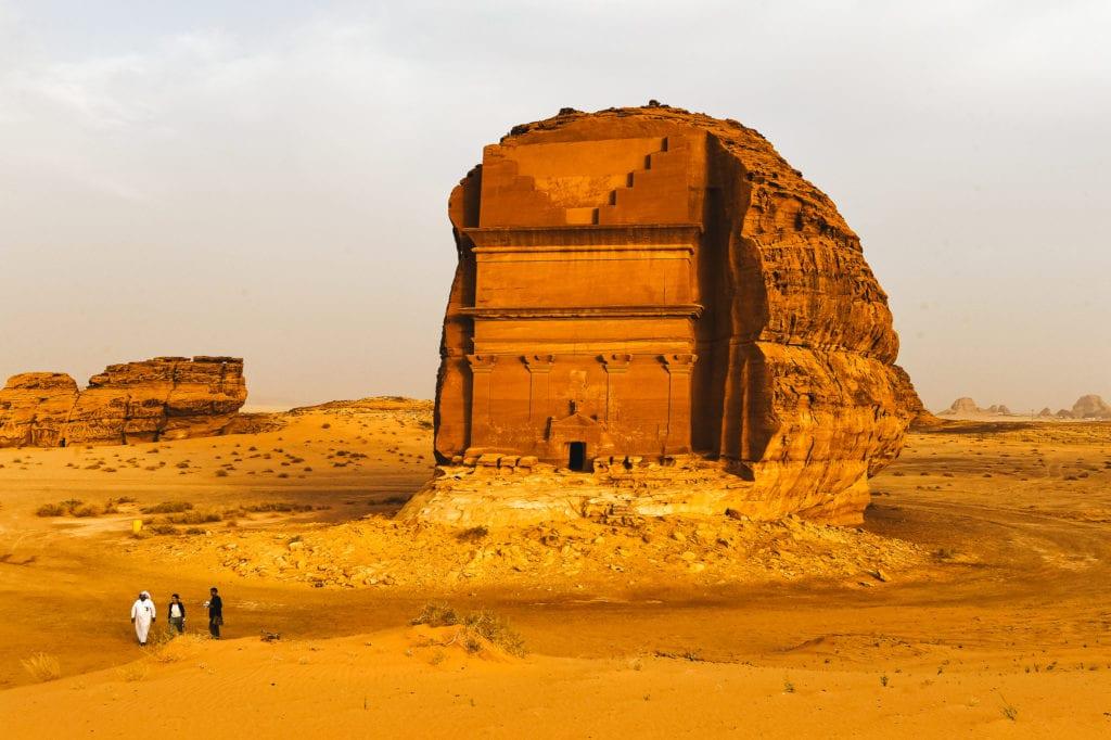 Ancient ruins in DEsert in Saudi Arabia