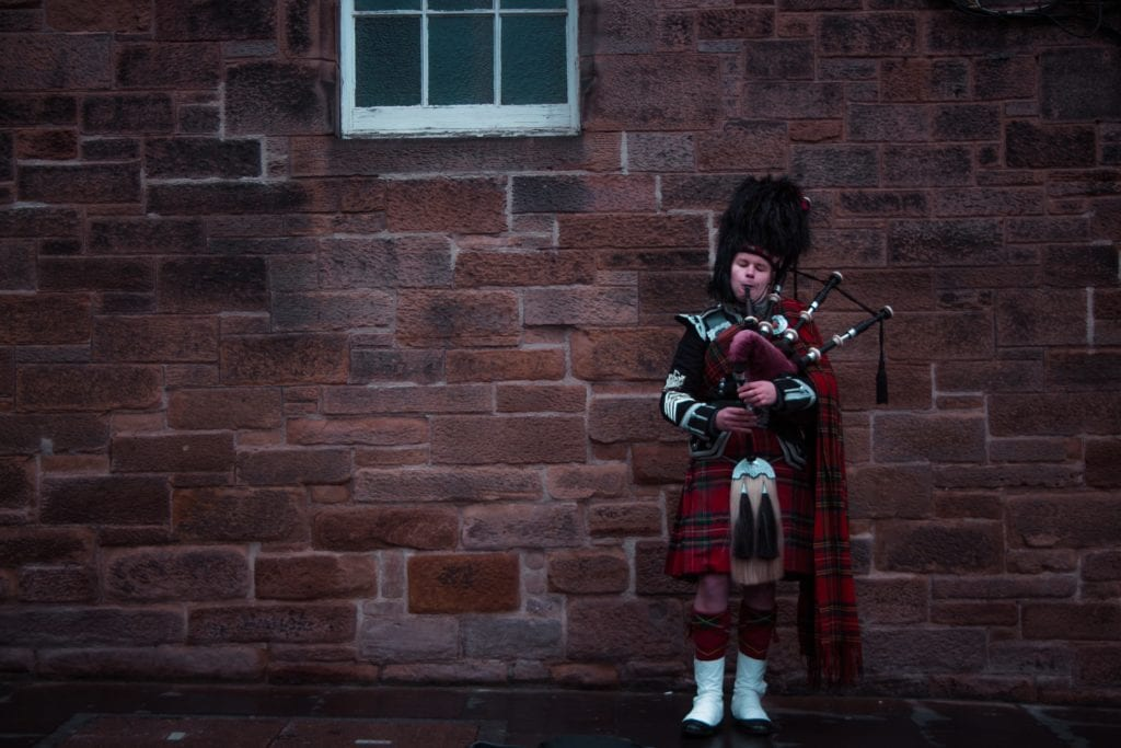 Bagpipes player Scotland