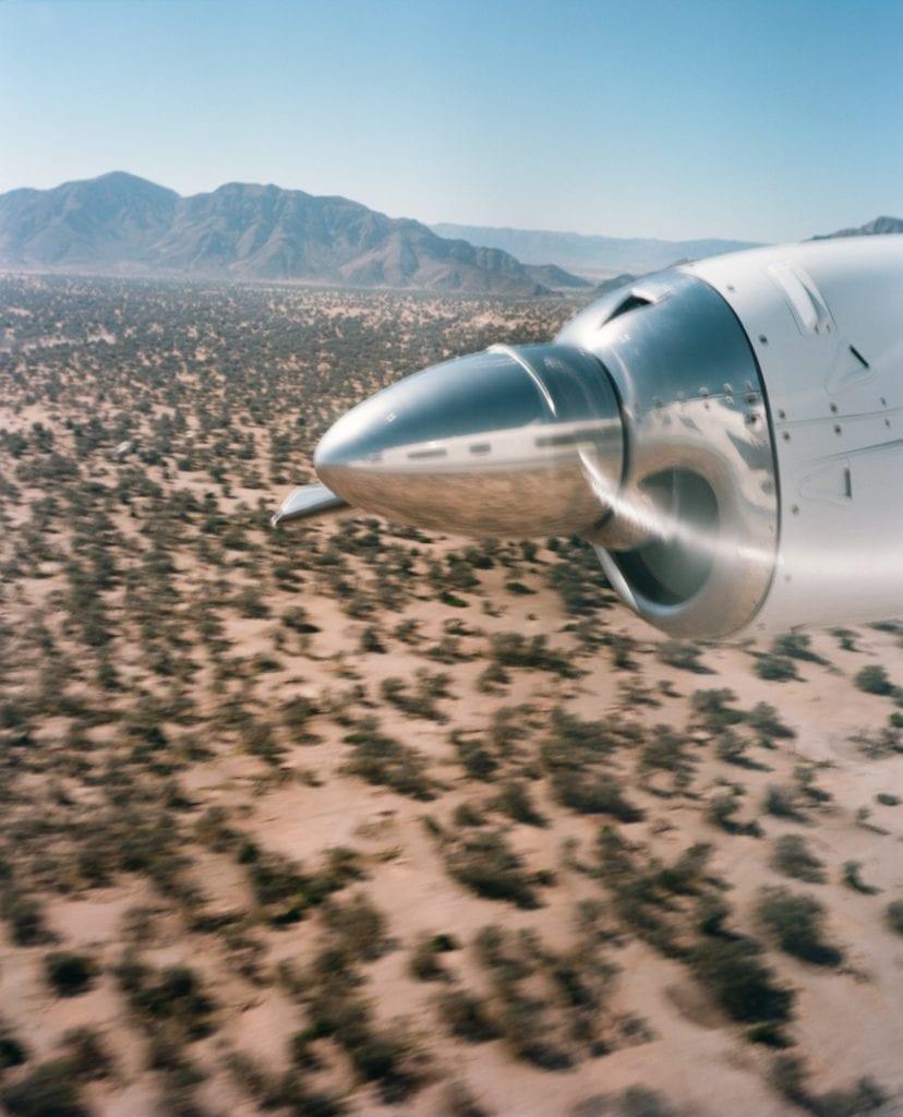 Flight over Namibian Desert