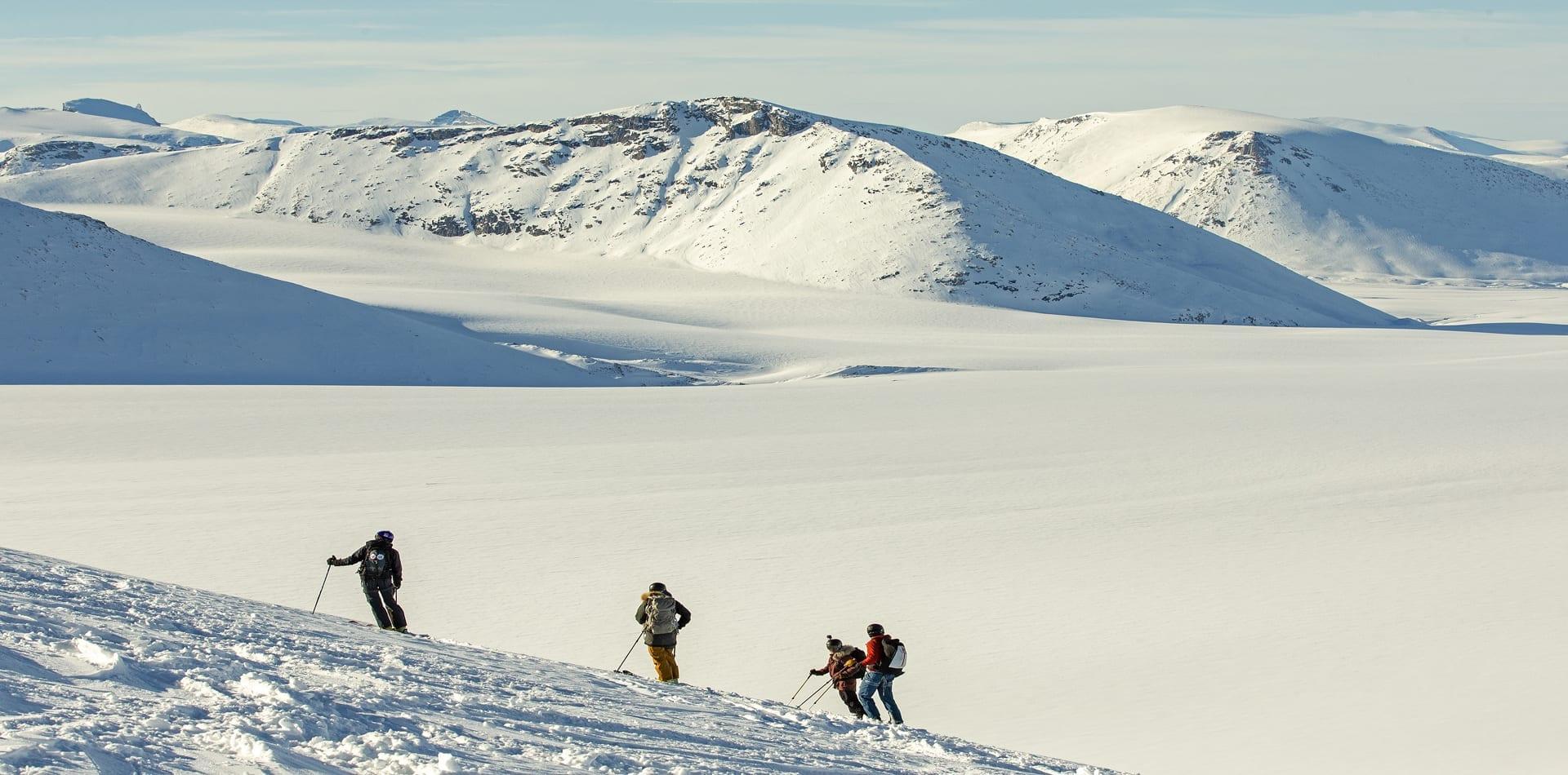 HERO Heli skiing Baffin Island