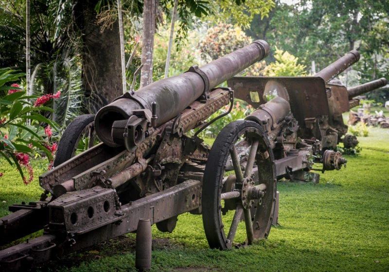 solomon islands world war ii canons