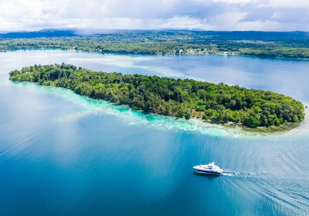 spirit yacht solomon islands exterior