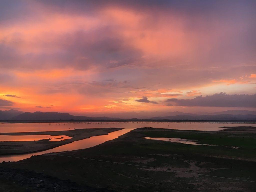 Sunset over Udawalwe National Park, Sri Lanka