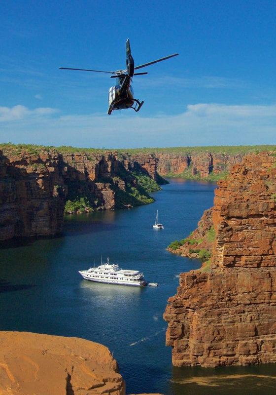 The Kimberley Australia Yacht Helicopter