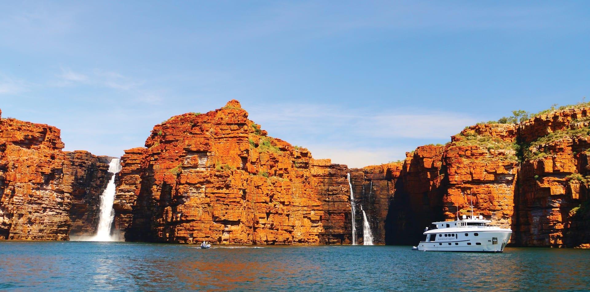 yacht waterfall kimberley australia