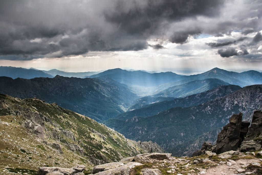 Storm Over Mountains France