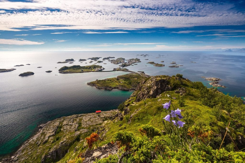 View to Henningsvaer Norway