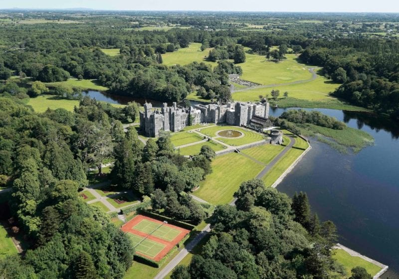 Aerial picture of Ashford Castle Ireland