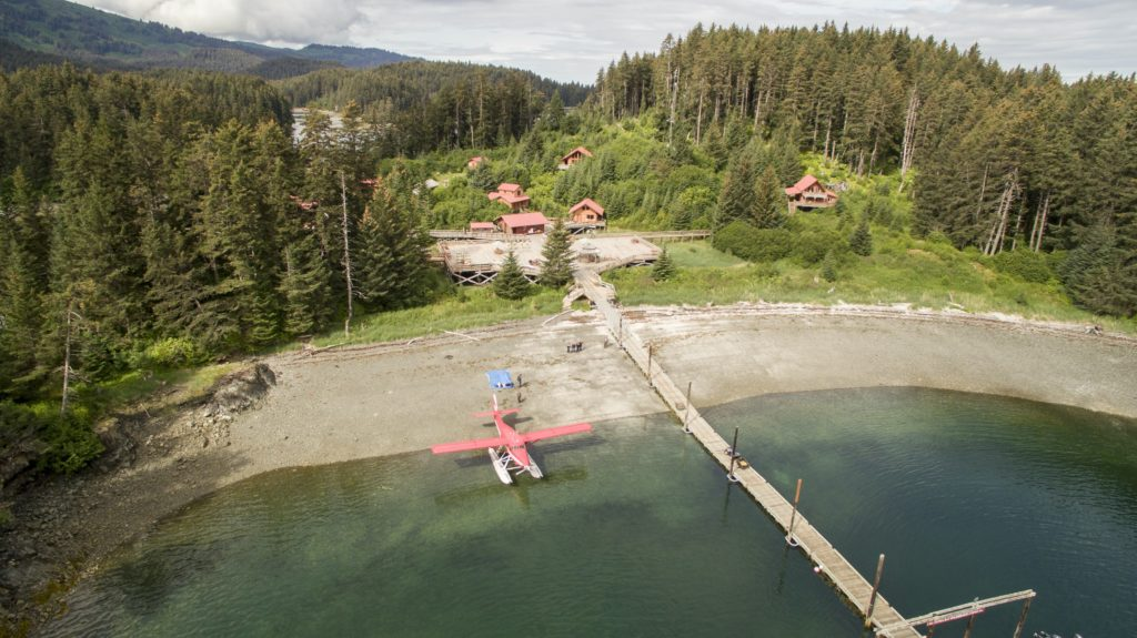 Alaska Tutka Bay Lodge Aerial Seaplane