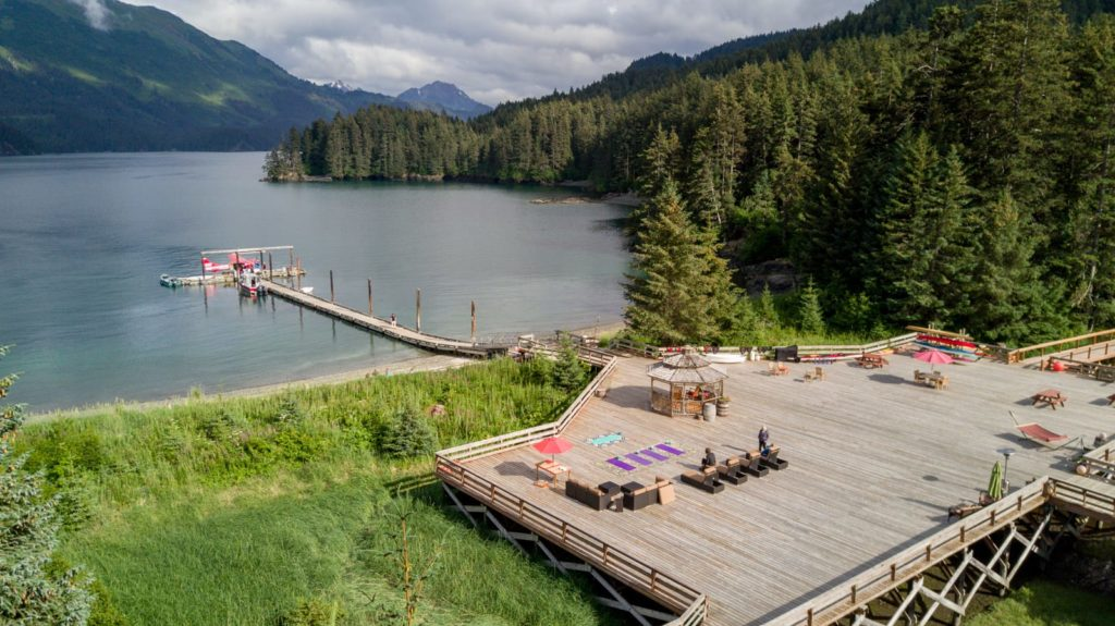 Alaska Tutka Bay Lodge Deck