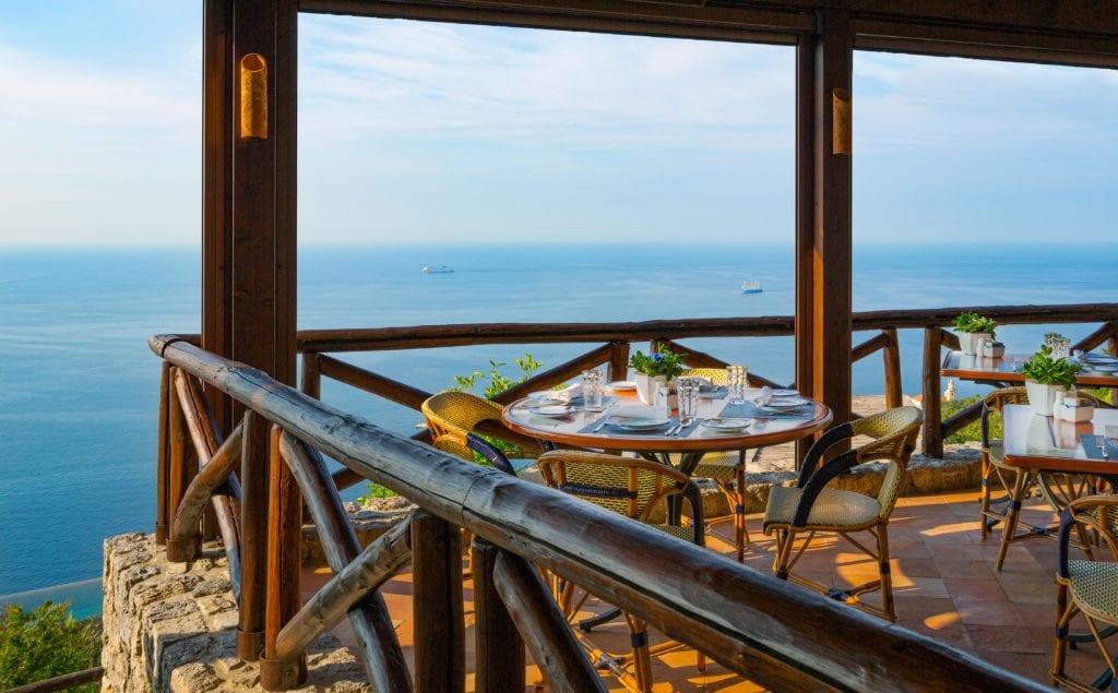 Amalfi Monastero Santa Rosa Dining Outsdoors