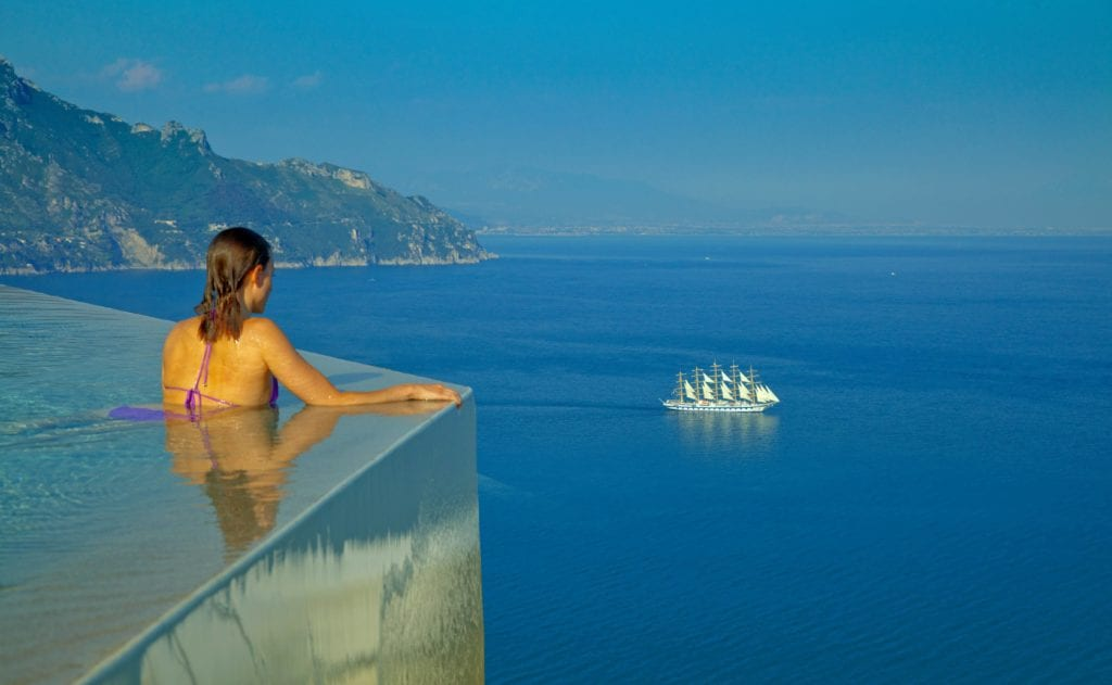 Amalfi Monastero Santa Rosa Infinity Pool Sea