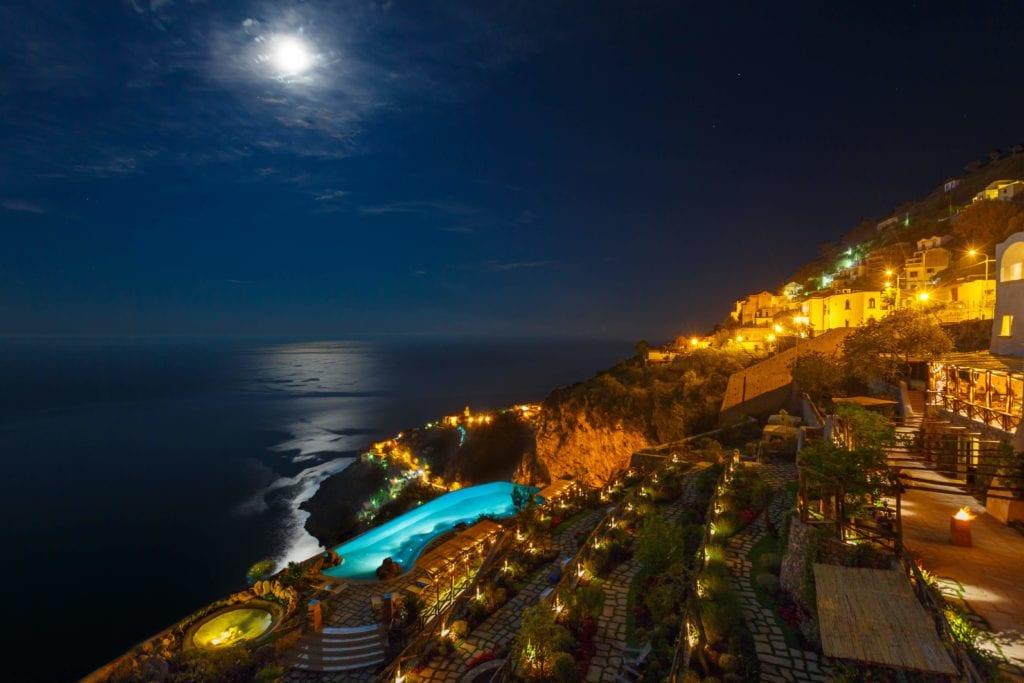Amalfi Monastero Santa Rosa Night View