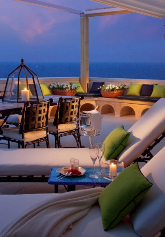Private terrace at Amalfi Monastero Santa Rosa Italy