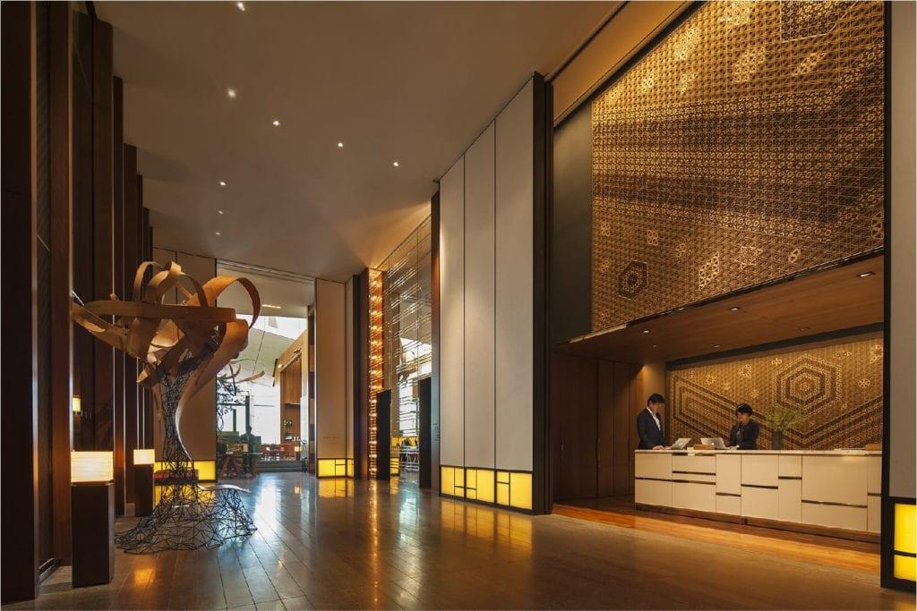 Lobby Interior at The Andaz Tokyo Japan
