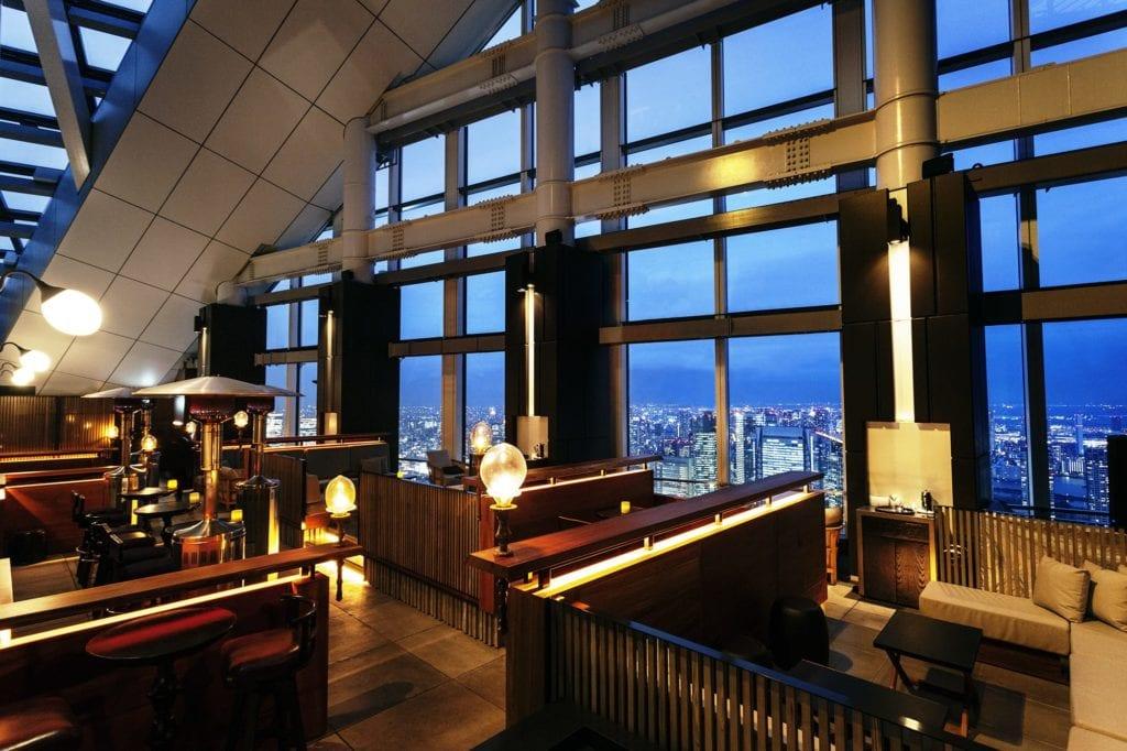 Andaz Tokyo Rooftop Terrace and Bar at Night Japan