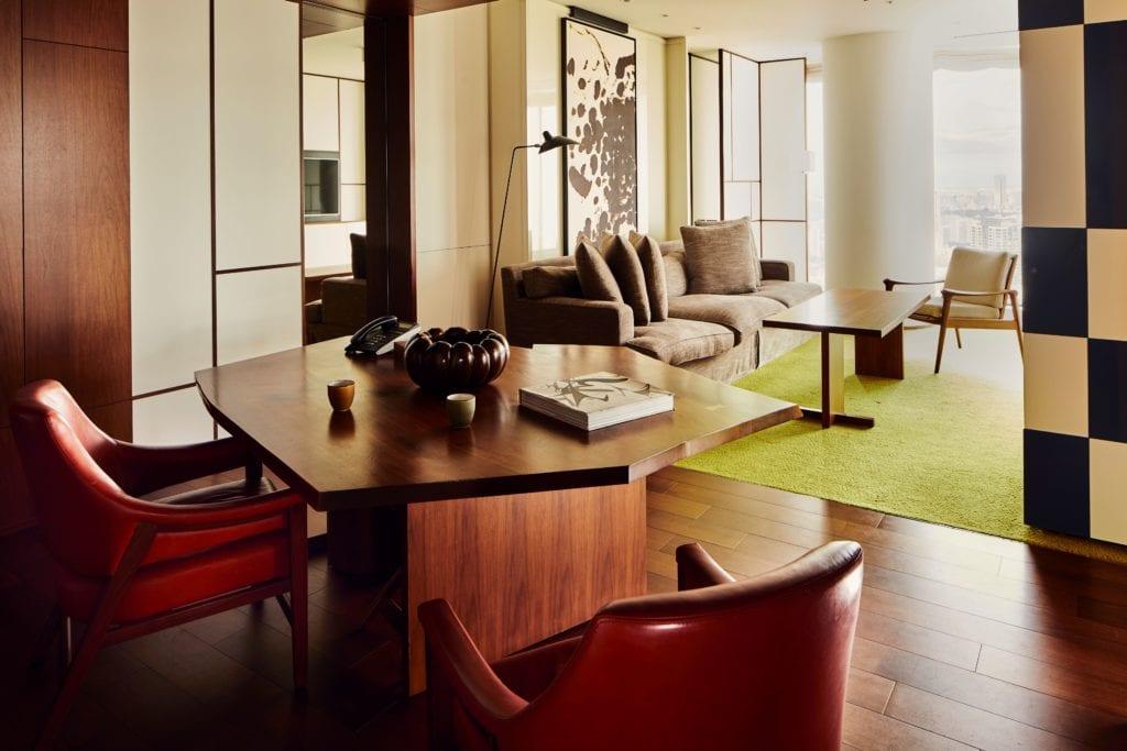 Andaz Tokyo Toranomon Hills Living Room and Lounge Seating Area Japan